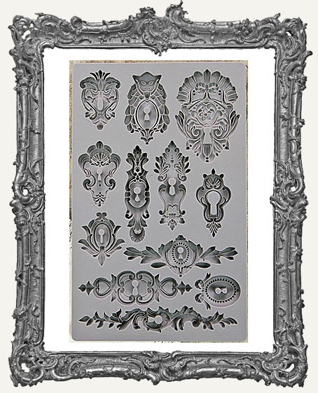 IOD Iron Orchid Vintage Art Decor Mould - Keyholes