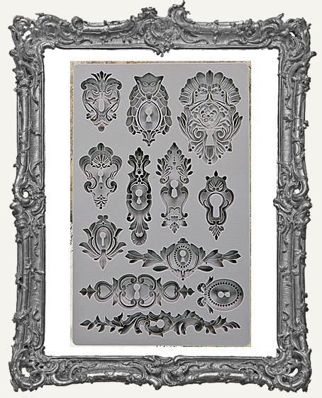 IOD Iron Orchid Vintage Art Decor Mould - Keyholes