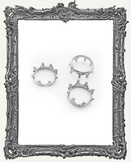 Silver Crowns - Set of 4