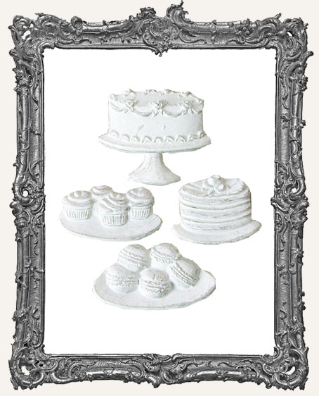 Resin Embellishments - The Sweet Life Cookies and Cakes Applique