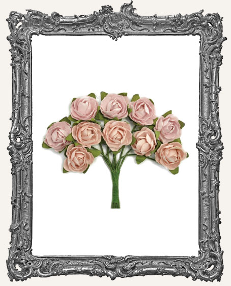 Mini Paper Blooms - Dusty Pink