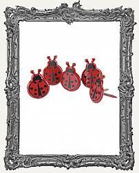 Ladybug Brads - 12 Piece