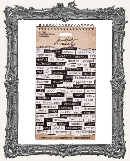Tim Holtz Idea-ology - Big Chat Word Stickers