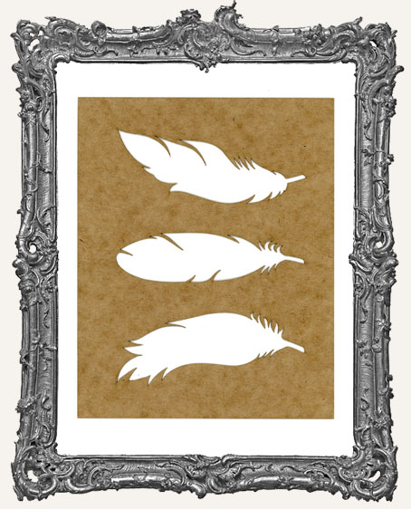 SMALL Feather Stencil