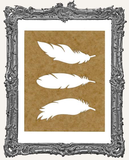SMALL Feather Stencil