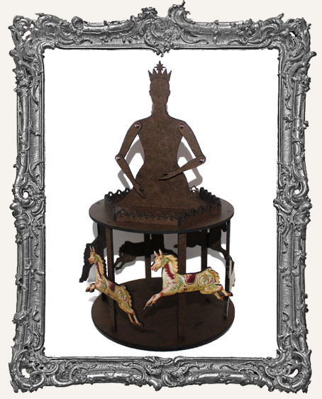 3-D Articulated Carousel Doll Shrine Kit - MEDIUM
