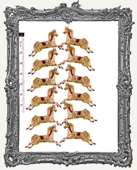 12 Carousel Horse Paper Cuts - Classic