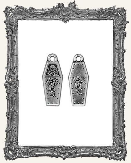 Day of the Dead Coffin Charm