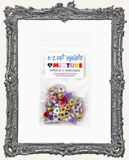 "E-Z Set Eyelets - 1/8"" Short HEART Shape Mix"