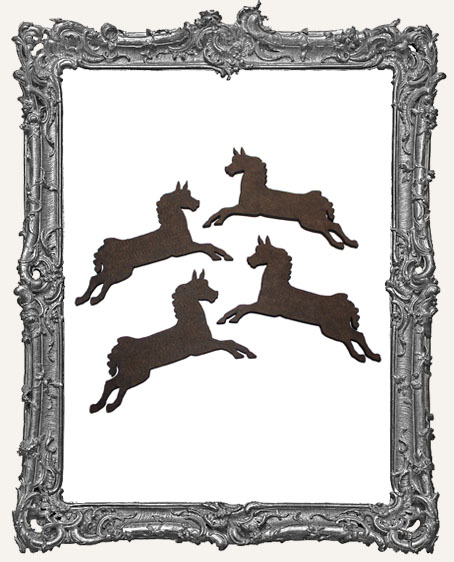 Carousel Horse Cut-Outs - 4 Pieces
