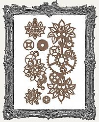 Finnabair - Decorative Chipboard - Machine Floral Decors