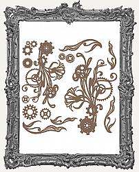 Finnabair - Decorative Chipboard - Mechanical Flourishes