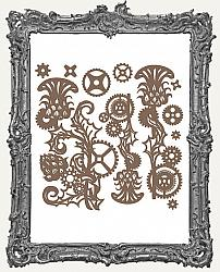 Finnabair - Decorative Chipboard - Mechanical Thistle