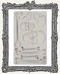 Finnabair Prima Art Decor Mould - Skull and Bones
