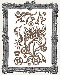Finnabair - Decorative Chipboard - Steampunk Blooms