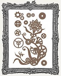Finnabair - Decorative Chipboard - Steampunk Flowers