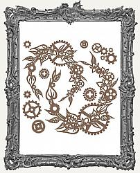 Finnabair - Decorative Chipboard - Steampunk Wreath
