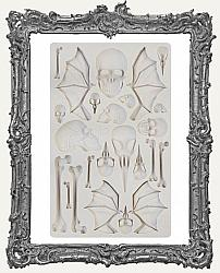 Finnabair Prima Art Decor Mould - Wings and Bones