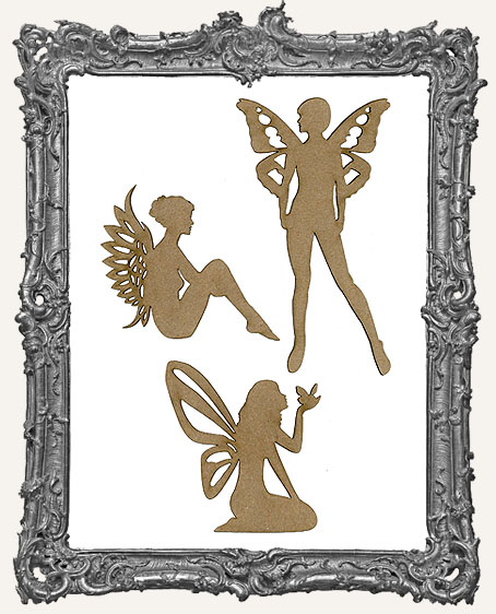 Chipboard Fairies Cut-Outs - Style 2