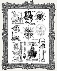 Creative Expressions Mixed Media Transfers By Andy Skinner - Pack of 2 - Ephemera Emporium