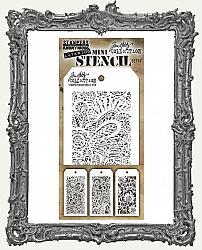 Tim Holtz Mini Layered Stencil Set - Doodle Set 47