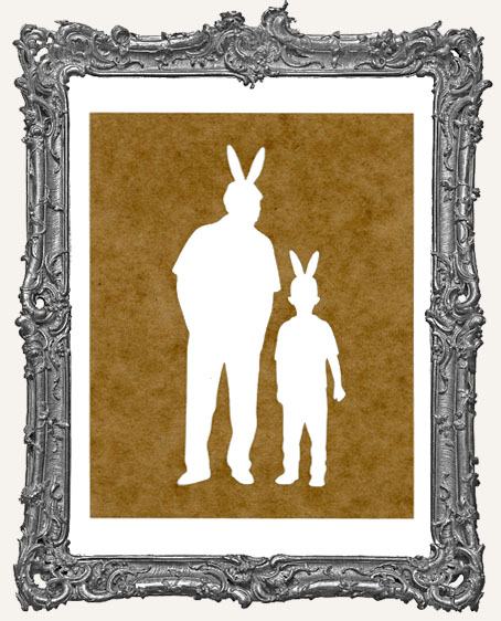 Easter Bunnies Stencil