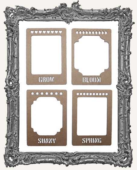 Layered Chipboard ATC Frame Set - Bloom