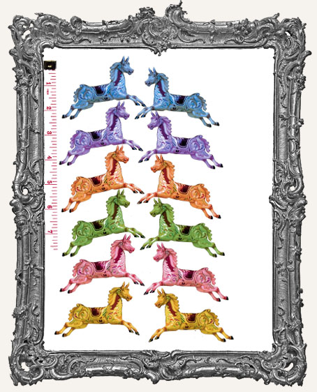 12 Carousel Horse Paper Cuts - A Horse of a Different Color