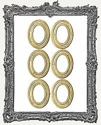 German Dresden Gold Vintage Oval Frames - 12 Pieces