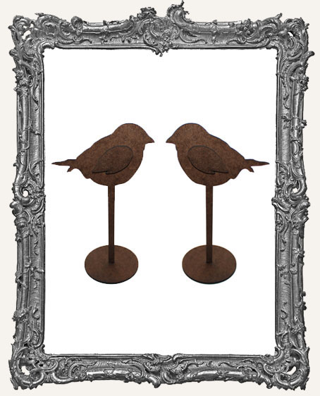 Bird Sticks Stand Ups Set of Two