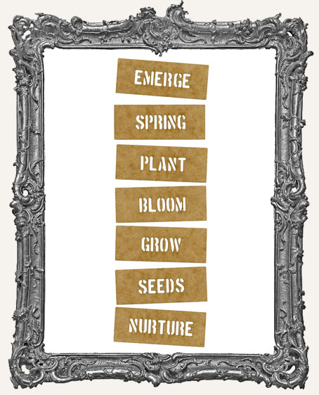 Mini Stencil Words Set of 7 - Emerge Spring