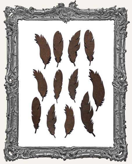 Feather Cut-Outs - 12 Pieces