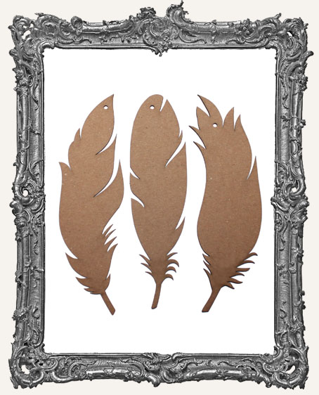 Chipboard Large Feathers - Set of 3