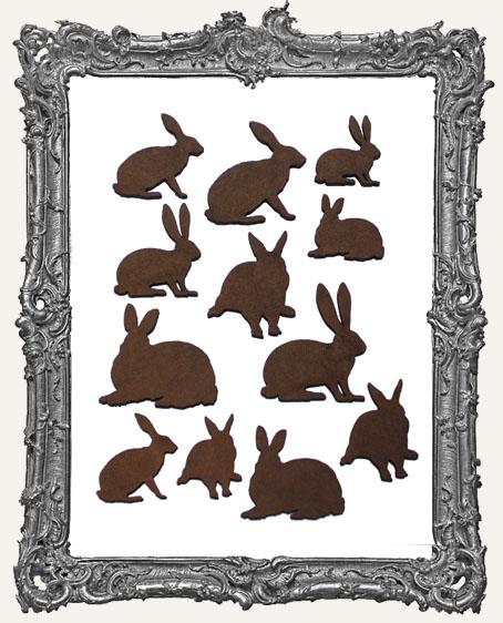 Rabbit Cut-Outs - 12 Pieces