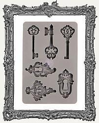 Prima Art Decor Mould - Keys and Key Holes