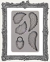 Prima Art Decor Mould - Wing and Locket
