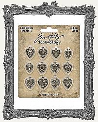Tim Holtz - Idea-ology - Adornments - Hearts