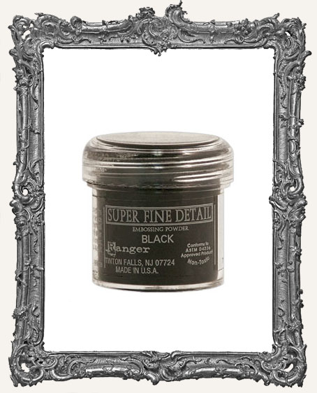 Super Fine Detail Embossing Powder - Ranger - Black