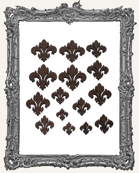 Ornate Fleur Cut-Outs - Style 1 - 16 Pieces