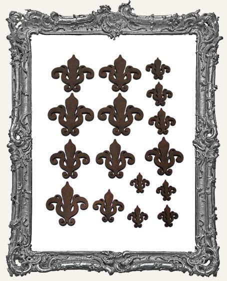 Ornate Fleur Cut-Outs - Style 2 - 16 Pieces