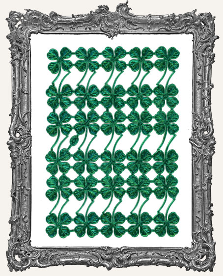 German Dresden GREEN Four Leaf Clover 30 Piece