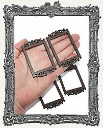 Cottage Windows or Frames - Set of 4 - Ornate Rectangles Style 1