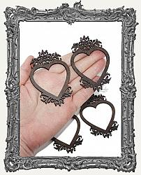 Cottage Windows or Frames - Set of 4 - Fleur Hearts Style 2