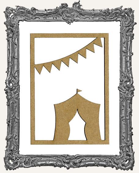 ATC Frame - Circus Tent and Flags
