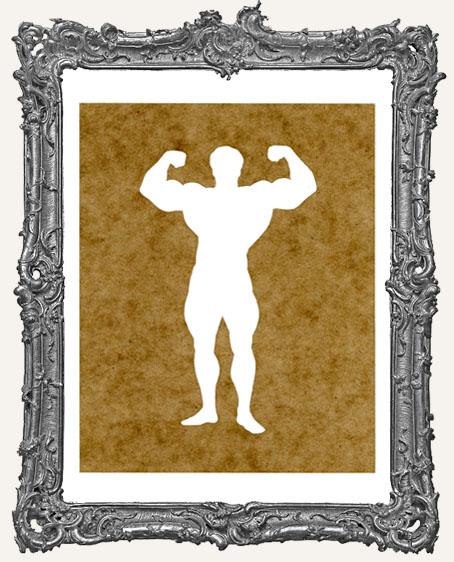 Circus Muscle Man Stencil