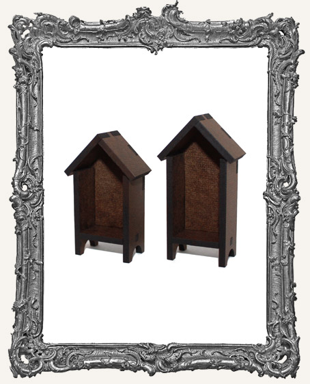 Mini HUTCH Houses Shrine Kit - Set of TWO Houses