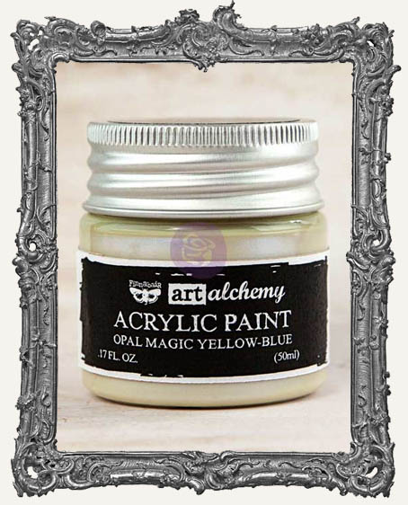 Finnabair - Art Alchemy - Acrylic Paint - Opal Magic - Yellow-Blue