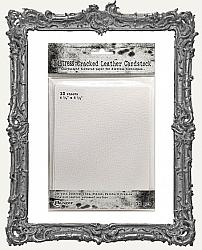Tim Holtz Distress Cracked Leather Cardstock - 4.5 x 5.5 Inch - 12 Pack