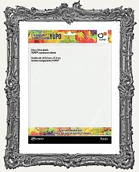 Tim Holtz Alcohol Ink Yupo Cardstock - TRANSLUCENT - 8x10