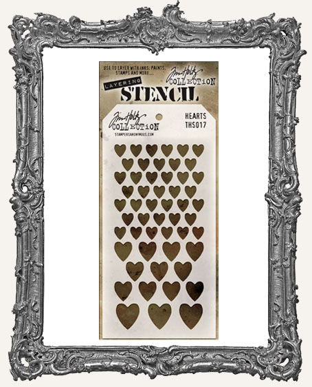 Tim Holtz Layering Stencils - HEARTS
